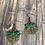 Thumbnail: Dragonfly green charm earrings