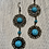 Thumbnail: Blue turquoise color earrings