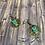 Thumbnail: Owl green charm earrings