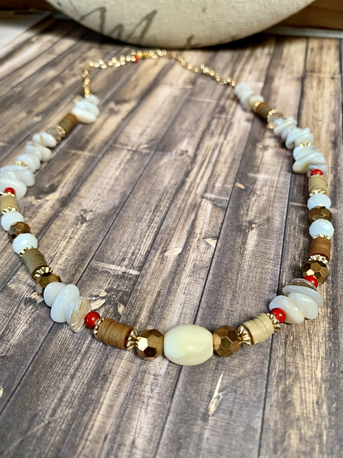 Mixed beads, tropical necklace