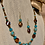 Thumbnail: Brown Blue Necklace & Earrings