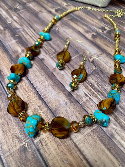 Glass Bead & Turquoise