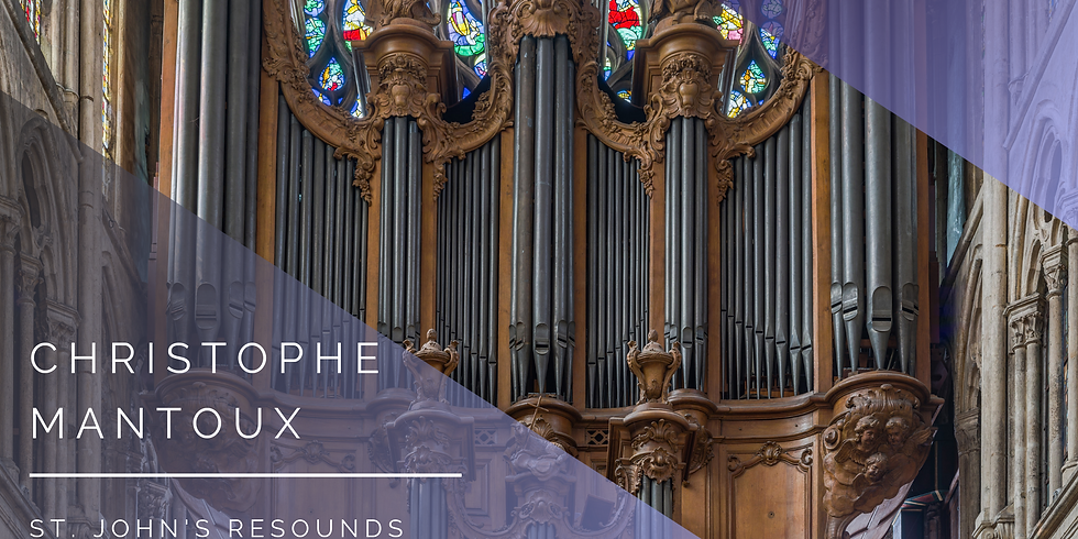 St. John's Resounds Presents Christophe Mantoux