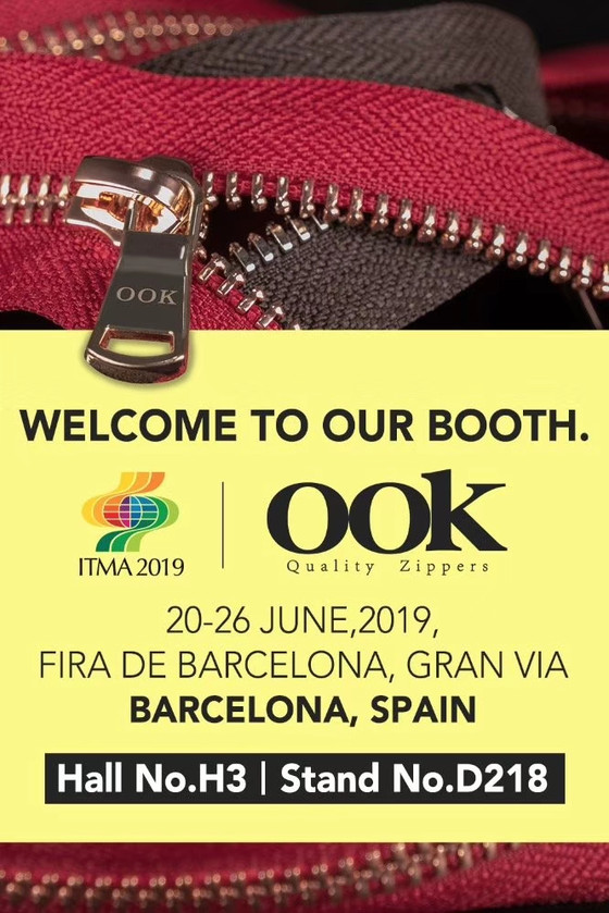 OOK zipper@ITMA ,Barcelona Jun.2019