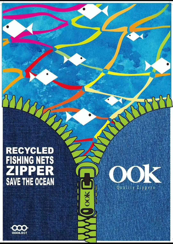 Recycled Fishing Nets Zipper Save The Ocean