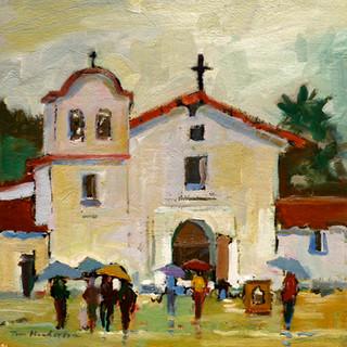 RAIN AT THE PRESIDIO     SOLD