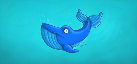 A whale that is Blue (but is not a Blue Whale)