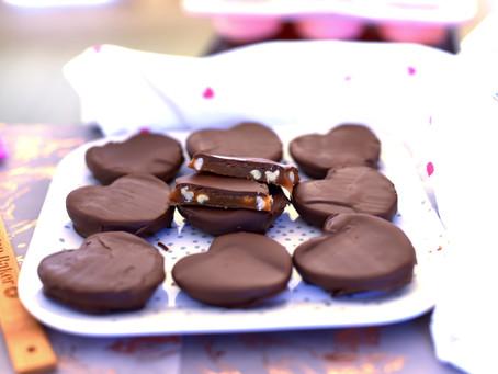 Vegan Chocolate Covered Caramels
