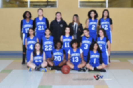 Girls Basketball Team Photo