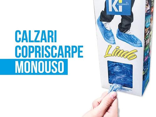 COPRISCARPE MONOUSO LINDO - con adesivo da parete o scrivania - 100 CALZARI.