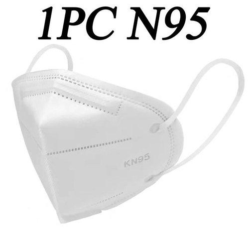 1PZ KN95 Maschera filtrazione maschere in tessuto FFP2 TNT N95.