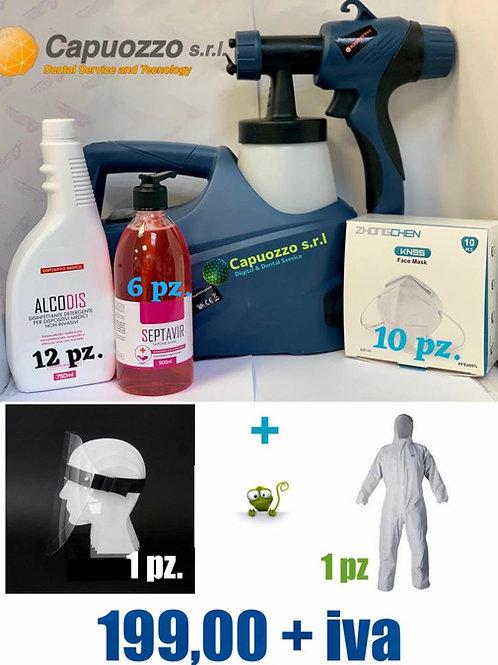Sanitificatore per ambienti e superfici AirSax kit.