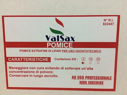 Pomice ValSax extrafine di Lipari 5kg per uso odontoiatrico