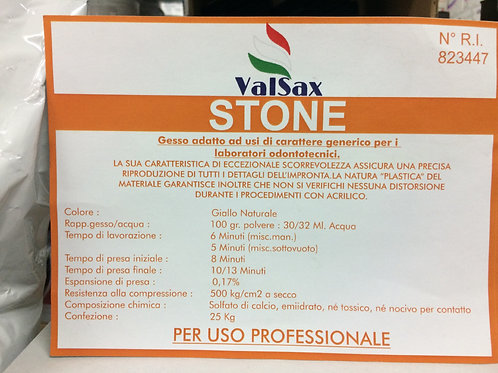 Gesso STONE ValSax gesso generico tipo IV 25kg