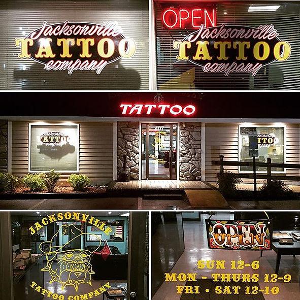 Jacksonville NC Tattoo shop parlor North Carolina Best Bombs Away Tattoo Elite Tattoo Gallery Gypsy Rose Tattoo Unique Ink Camp Lejeune Geiger Johnson MCAS New River Old Salt Tattoo Body Piercing