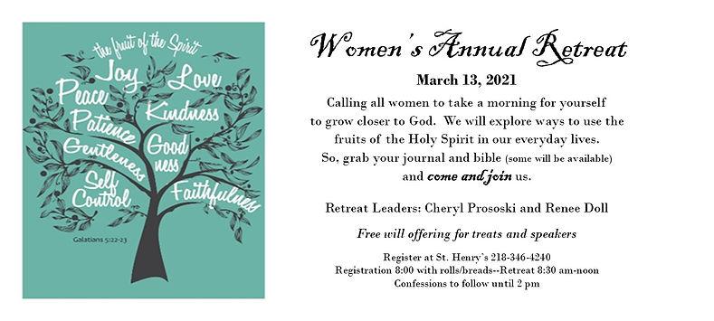 2021 Women's Annual Retreat