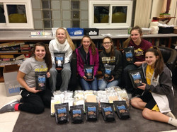 Assembling Soldier Care Packages