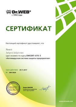 (DWCERT-070-3) Антивирусная система защиты предприятия (Мамаев) 29.11.2017