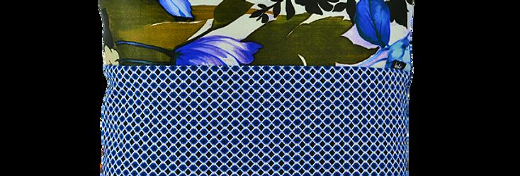 Coussin nuances bleus et nature40x40