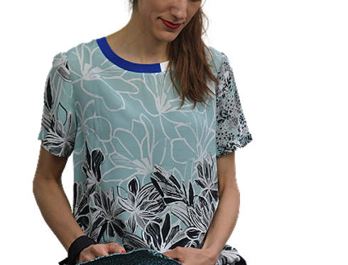 Blouse  Soft Flowers - Taille 38