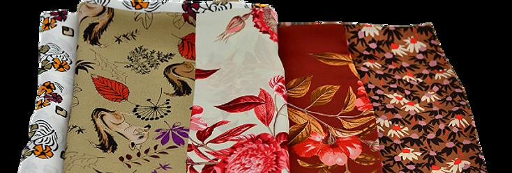 Foulard Colored Flowers