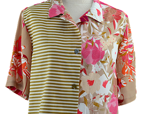 Chemise Pink Flowers - Taille 38