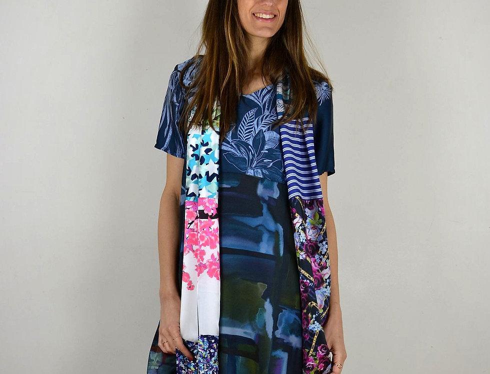 Robe Abstract Bleus - Taille 38