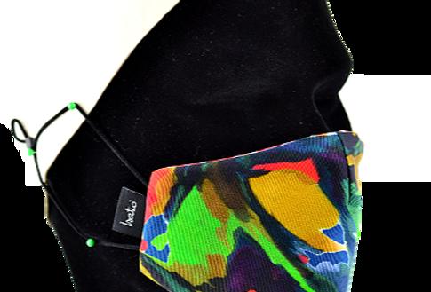 Masque Masculin 100% coton réversible! Festif Multicolors!s!