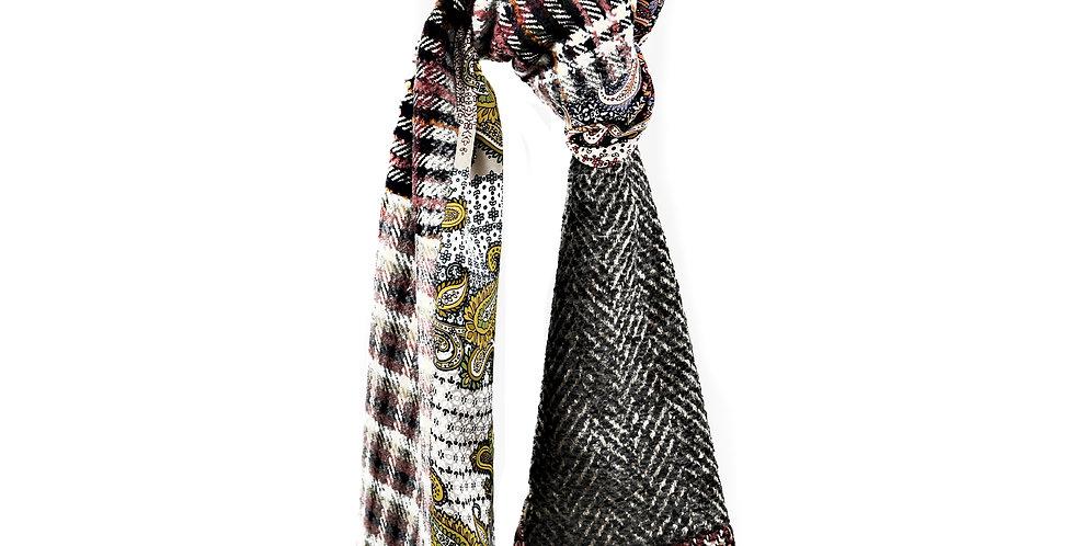 Humany Écharpe de lainage et soies