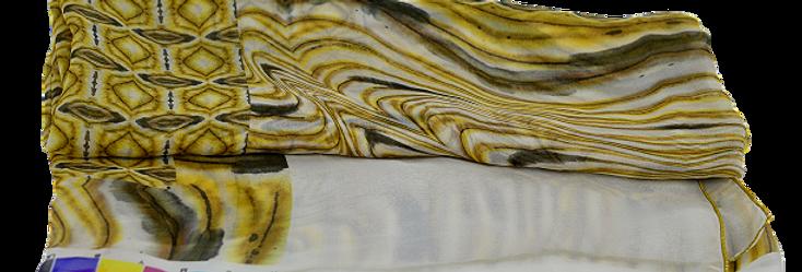 Gold Square Foulard en soie