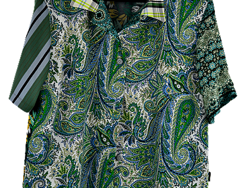 Chemise Shades of  Green  - Taille