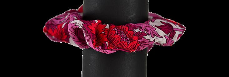 Chouchou printemps-été Red & Pink