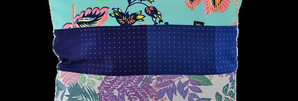 Coussin nuances de Bleus - 50x50