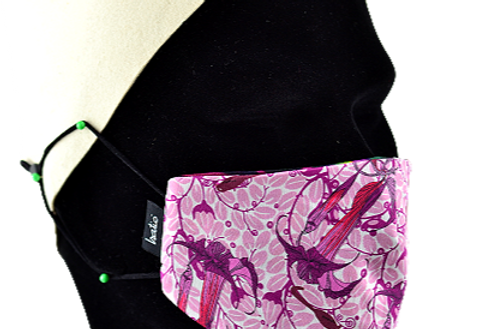 Masque Masculin 100% coton réversible! Festif Pinks!