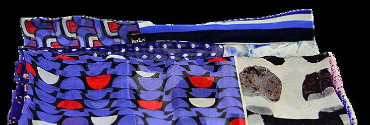 Soft Blue Foulard en soie