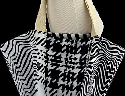 Cabas - Cube  Black & White
