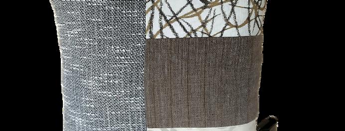 Coussin Gray-White 25 x 25