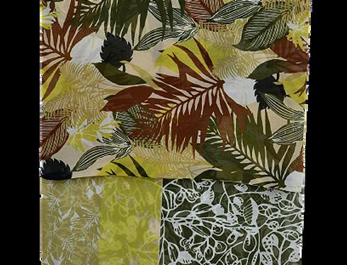 Foulard Green Flowers