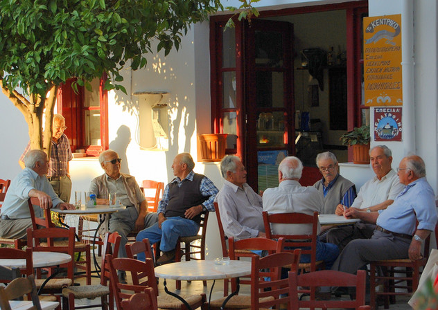 men's corner in Pirgos