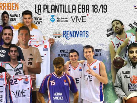 La plantilla del VIVE El Masnou per a la temporada 18/19