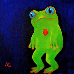froggie with heart