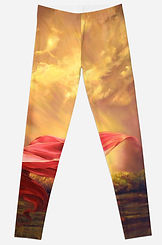 Red Shawl II leggings