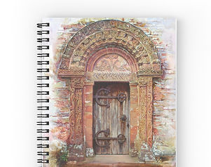 Kilpeck Church spiral notebook