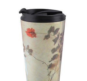 Geranium travel mug