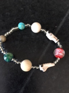 Astronaut and Shuttle bracelet -One of a kind