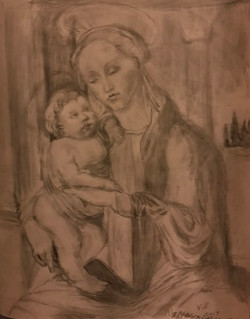 V Brooks sketch after Boticelli