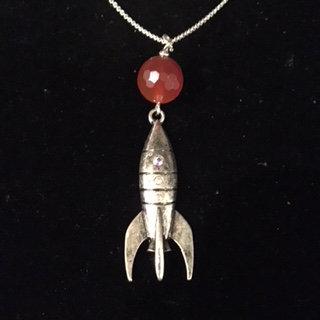 Mars Rocket Necklace