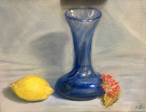 Blue glass vase oil painting.jpg