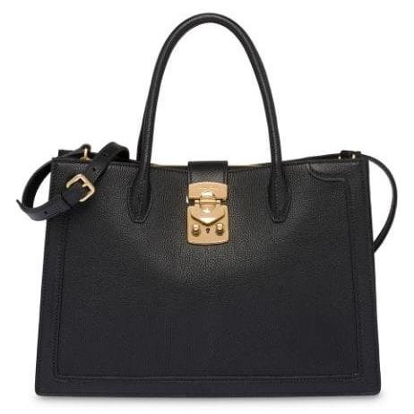 [MIU MIU] Confidential Madras Leather Handbag