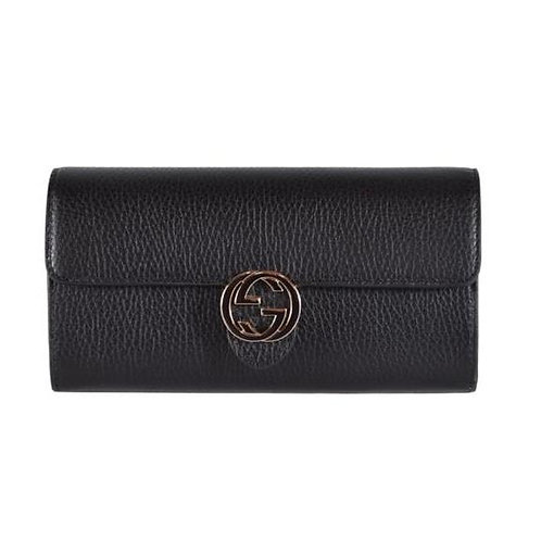 [GUCCI] Leather Marmont Interlocking GG Continental Wallet